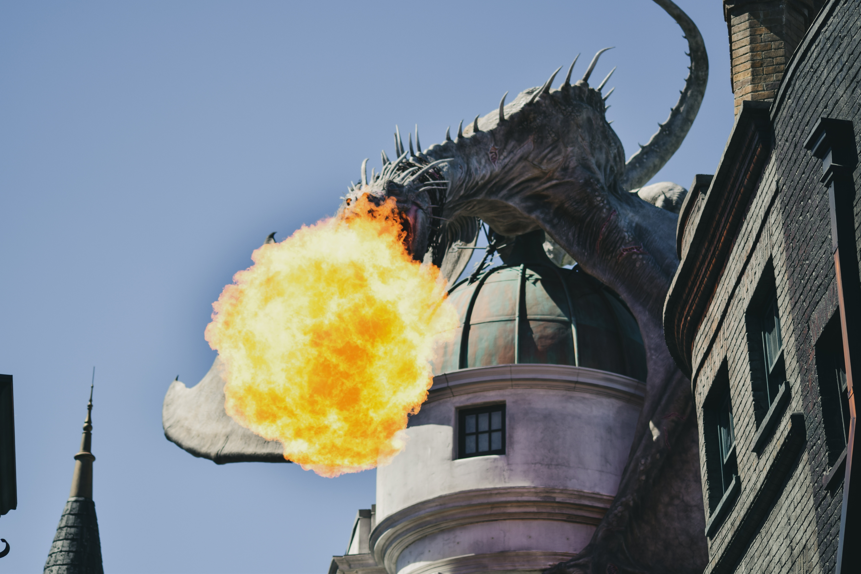 火を吹くドラゴン
